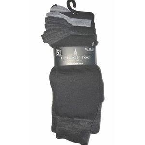 London Fog 5 PAIR Men's Soft Dress Crew Socks